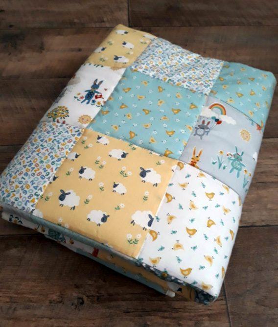 Dětská patchworková přikrývka